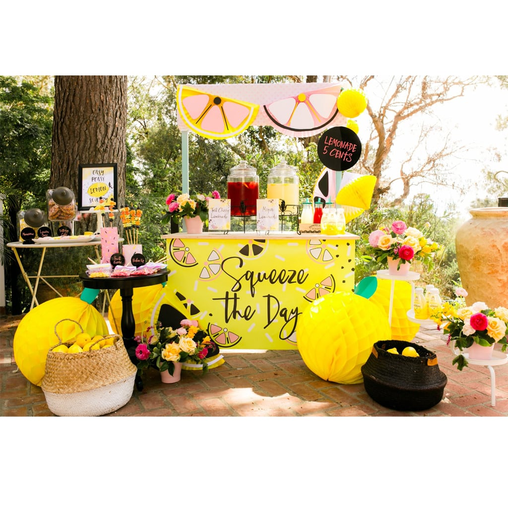 Squeeze the Day Lemonade Stand Sign | midnight confetti