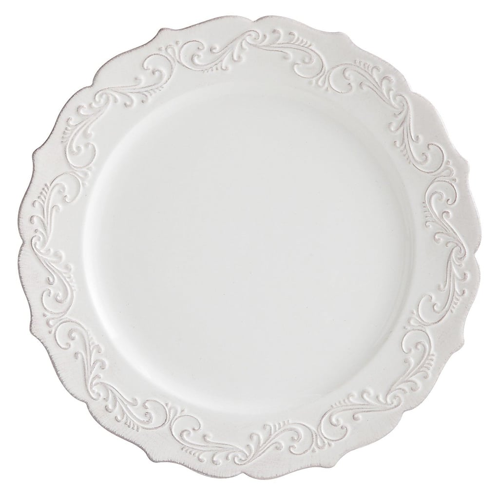 Antique Scroll Collection White Dinner Plate - Pier 1 Imports