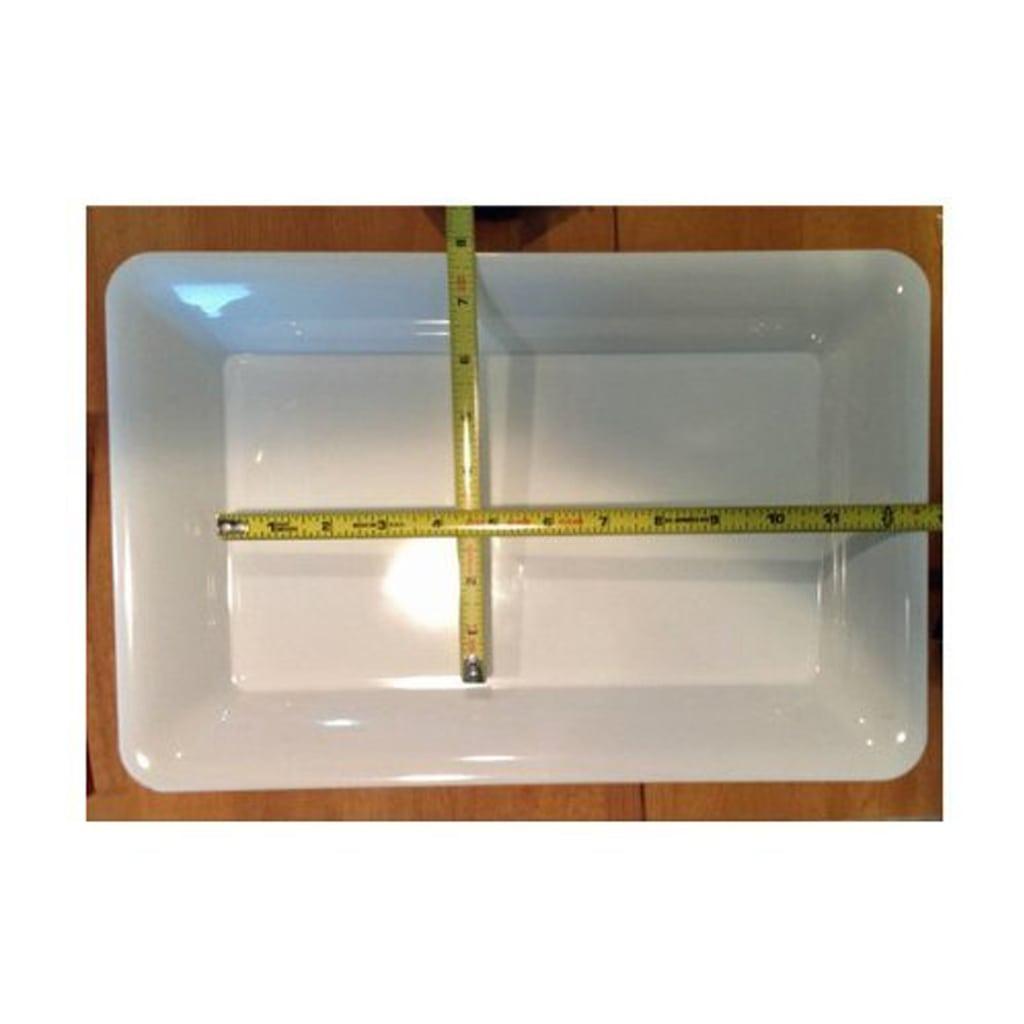 White Plastic Serving Tray