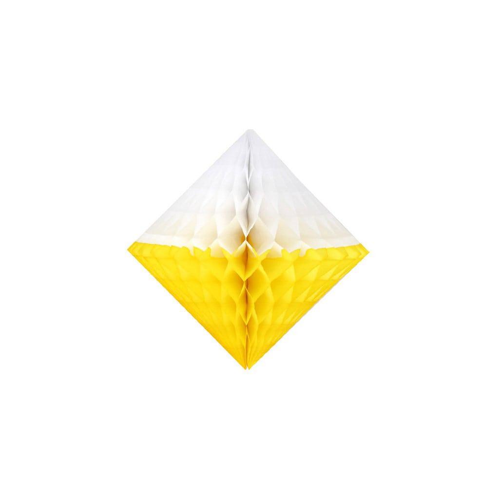 """5"""" white and yellow honeycomb diamond"""