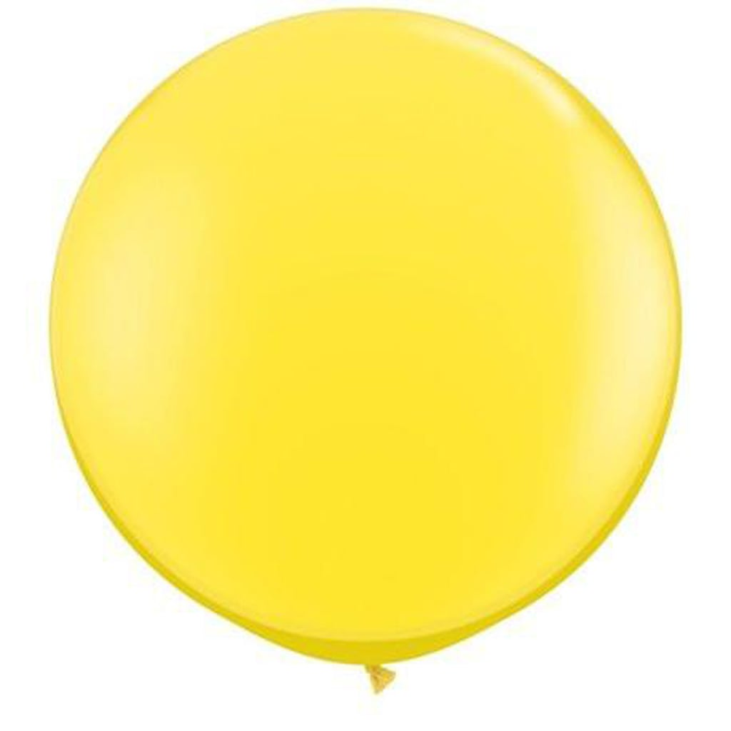 yellow jumbo helium balloons