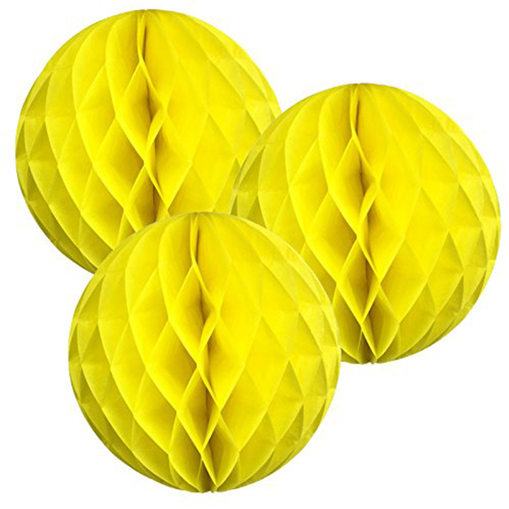 Yellow Tissue Honeycomb Balls