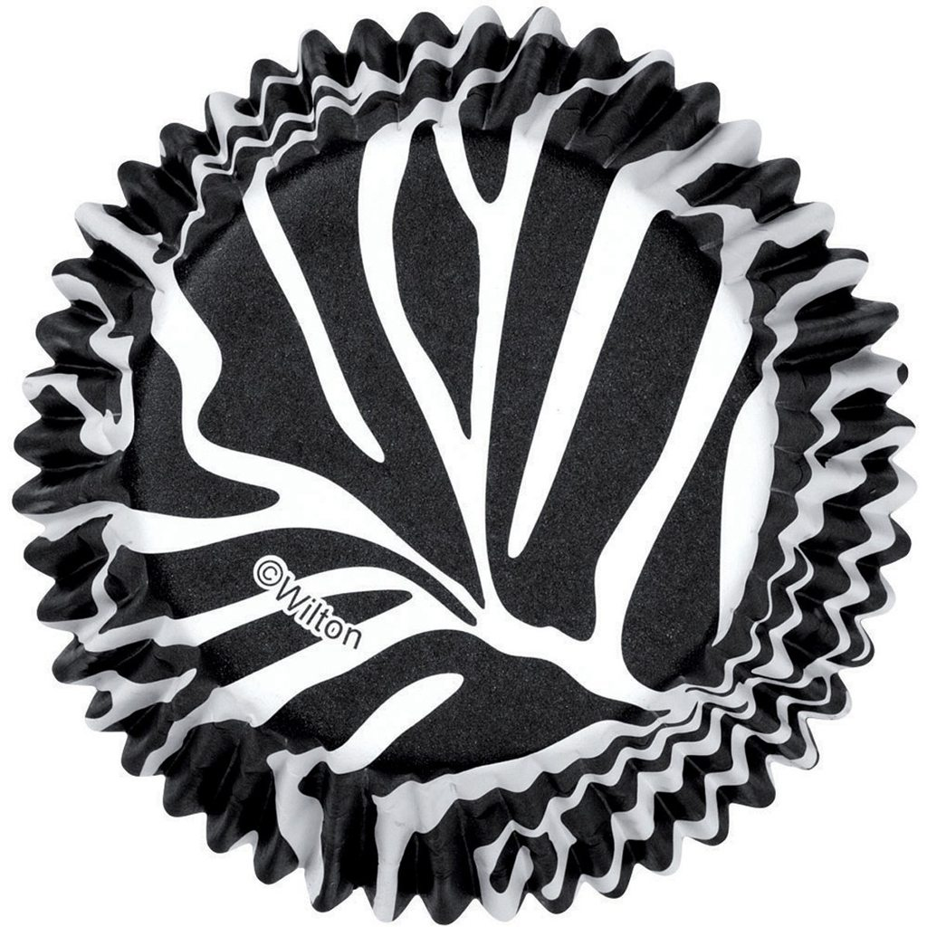 Zebra Cupcake Baking Cups, 75 Count