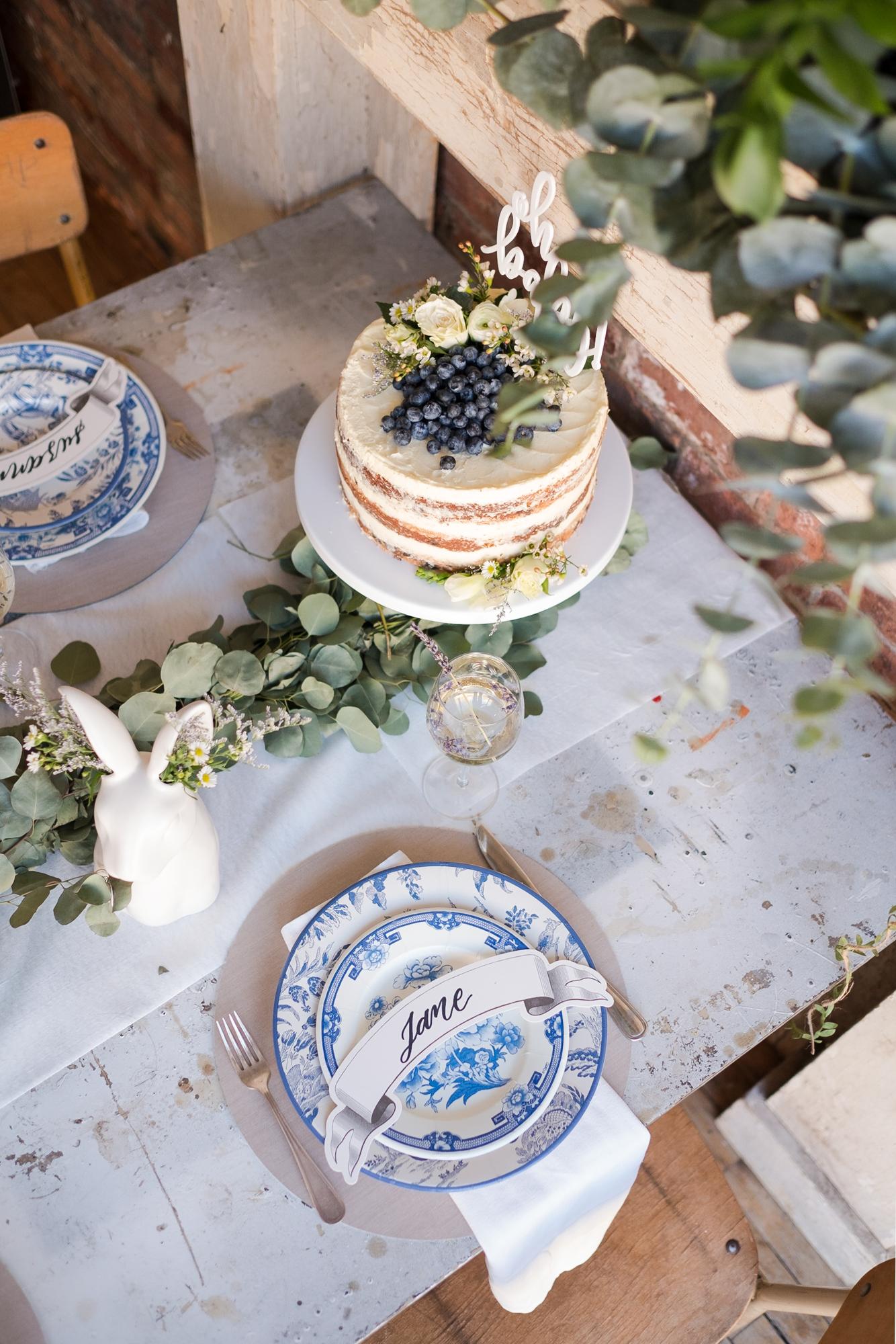 Caspari Blue and White Plates
