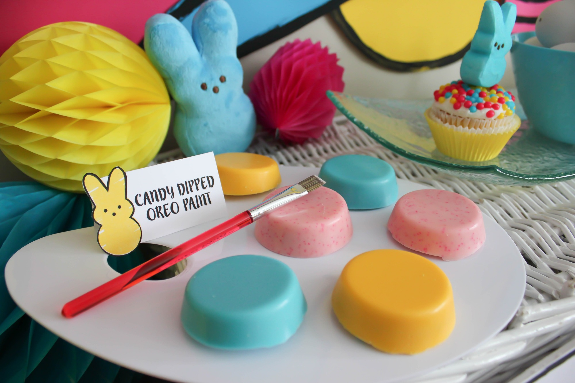 Chocolate Covered Oreo Paints from Painting with my Peeps Easter Party Styled by Just Add Confetti | Black Twine