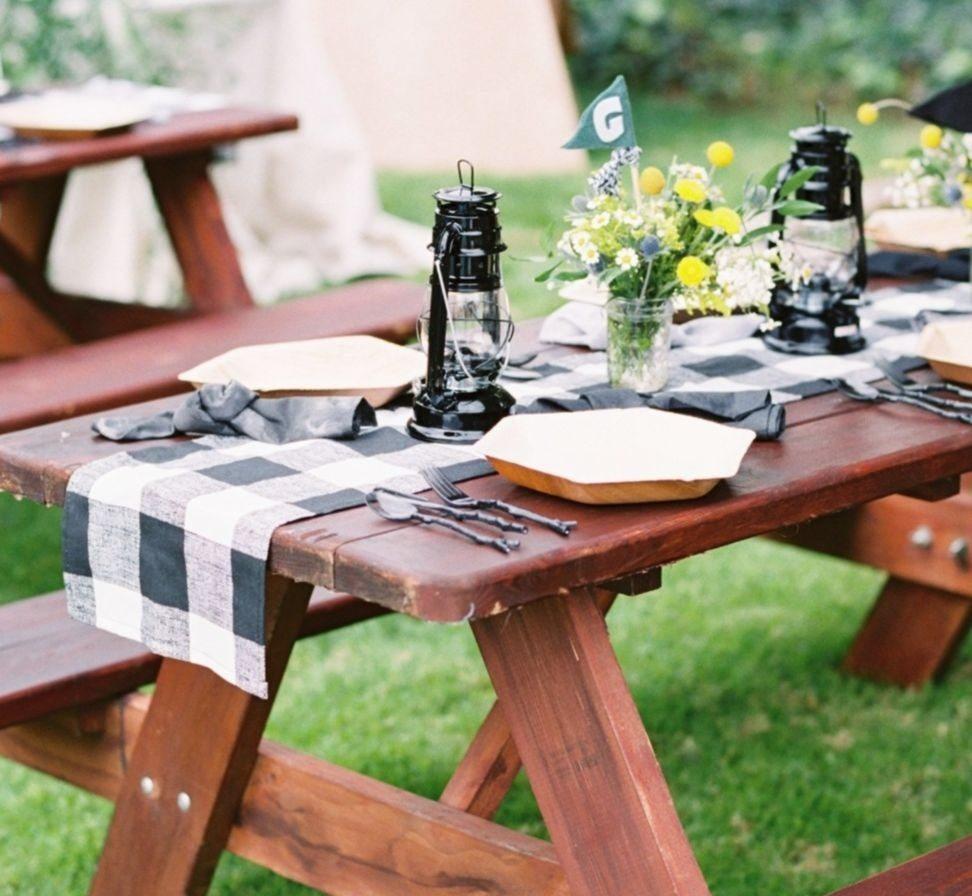 buffalo check table runner by Luxury Linen Loft