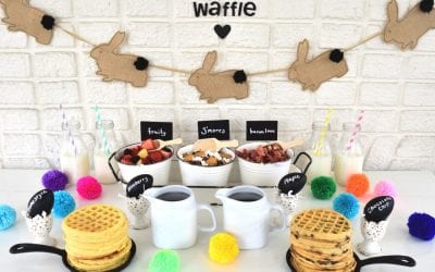 Pull Together an Easy Easter Waffle Bar with Lori of Giggle Living