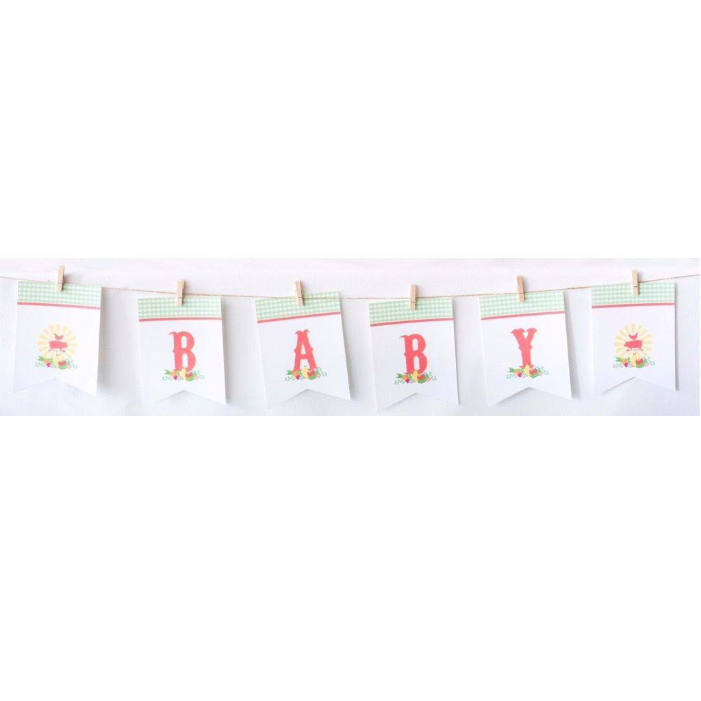 Baby Garland (DIY Printable) by Jen T by Design