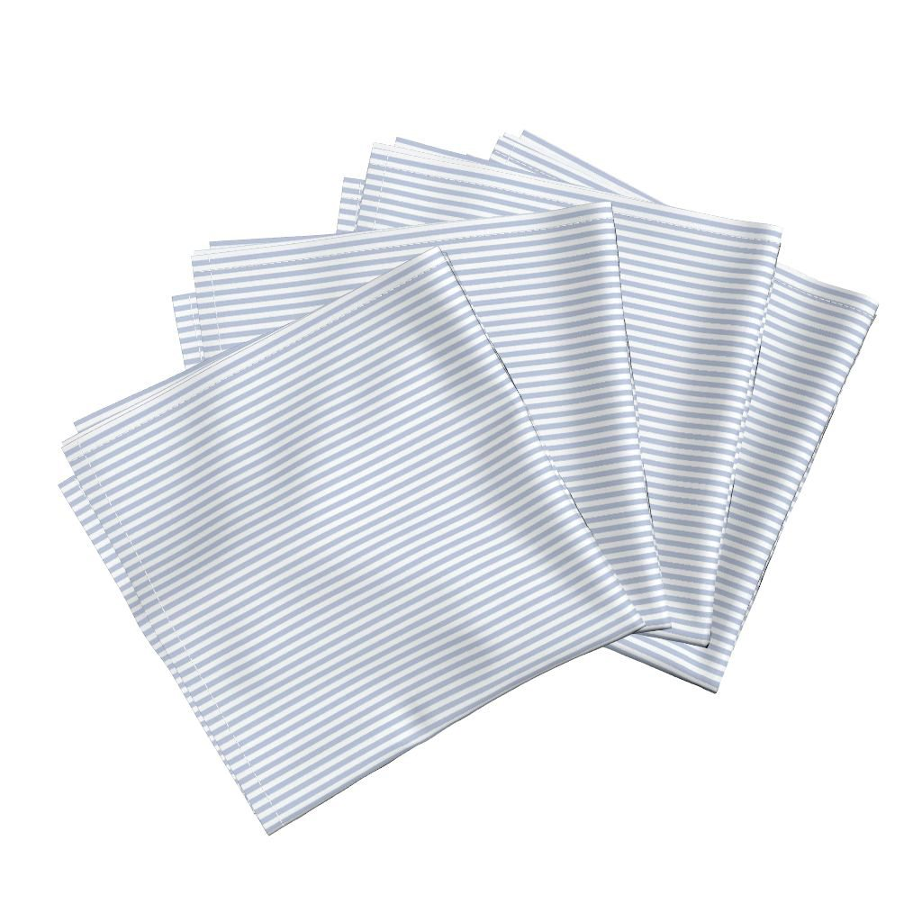 """Cloth Napkins in """"Seersucker Stripe"""" by woodruff999301 from Roostery"""