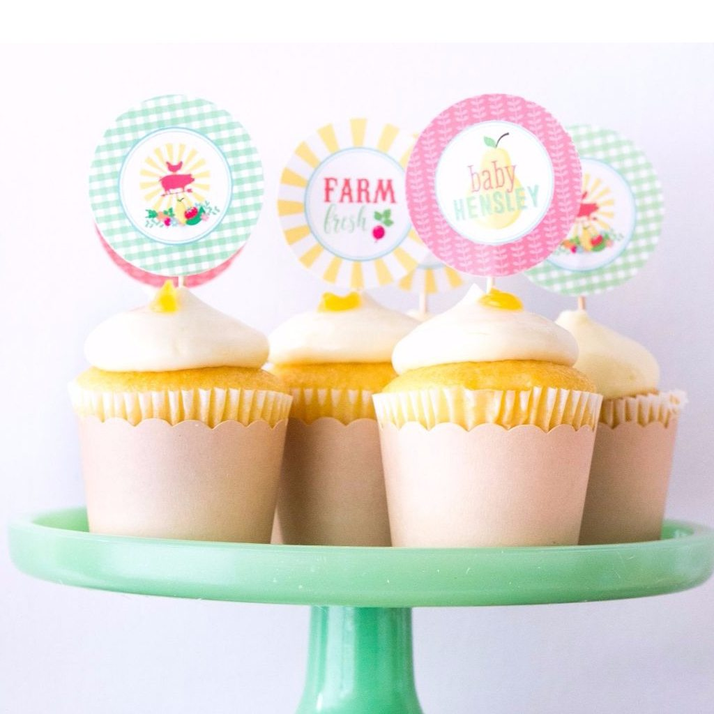 Cupcake Toppers (DIY Printable) by Jen T by Design