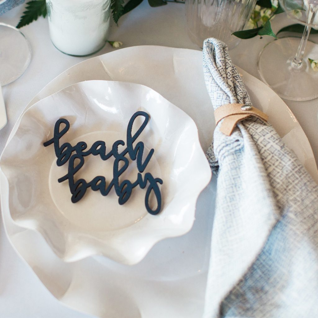 Laser Cut Signage Beach Baby Shower