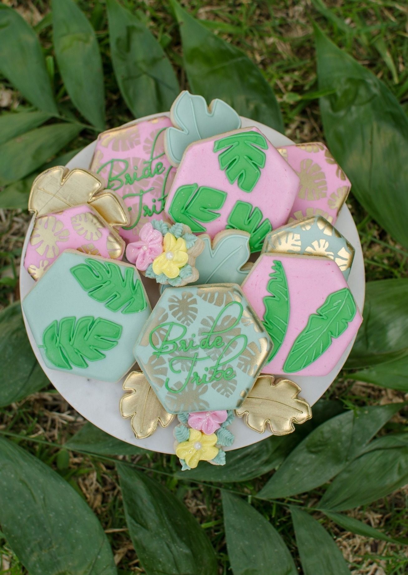 Sugar Cookies from Tropicale Bridal Shower Featuring Daydream Society | Styled by Mint Event Design | Black Twine