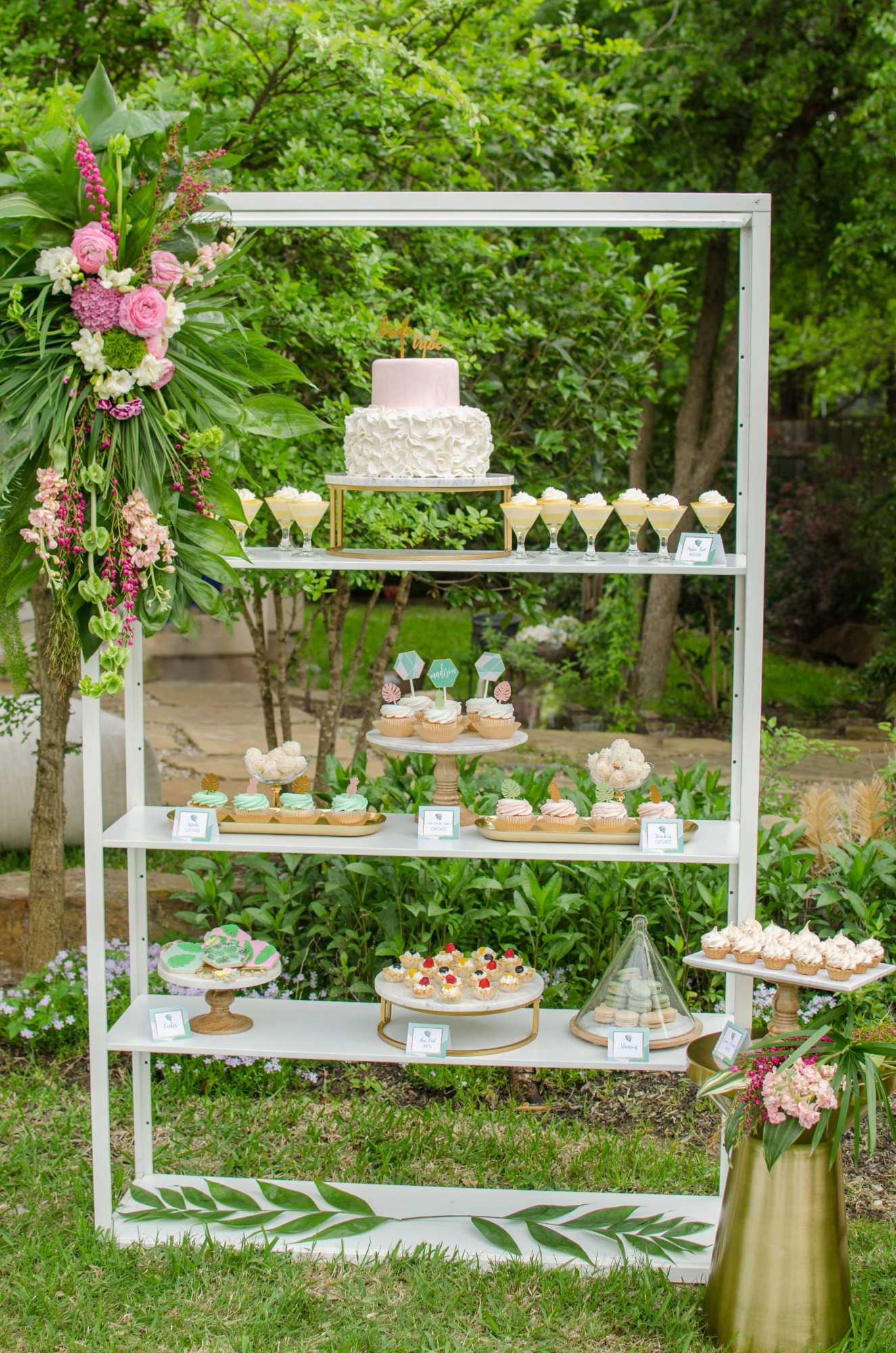 Desserts from Tropicale Bridal Shower Featuring Daydream Society   Styled by Mint Event Design   Black Twine