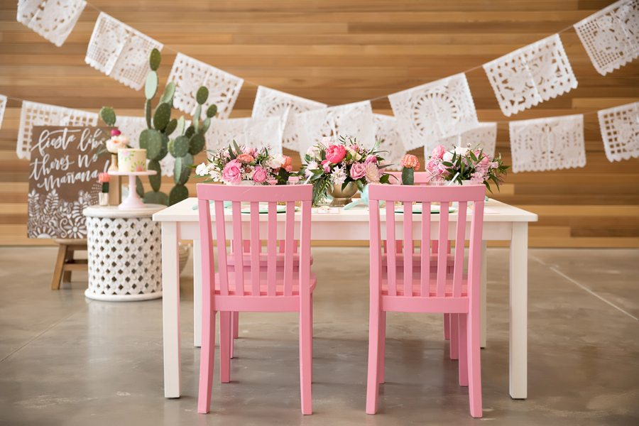 Tablescape and Garlands from Kids Cinco de Mayo Fiesta Styled by One Stylish Party | Black Twine