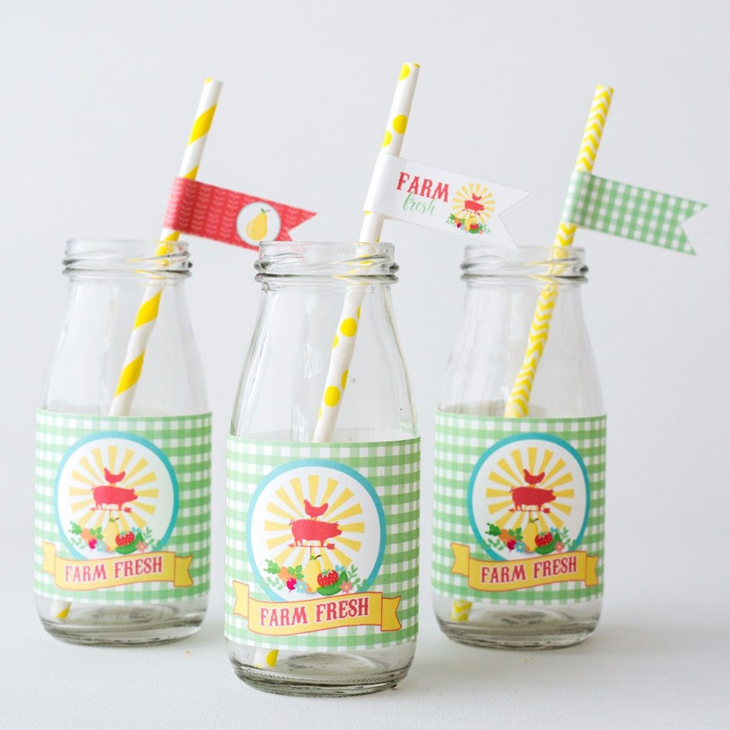 Milk Bottle Labels (DIY Printable) by Jen T be Design