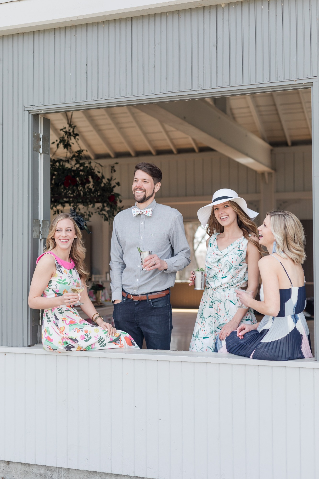 Guests and Hats from Off to the Races Derby Party Styled by Cherry Blossom Events | Black Twine