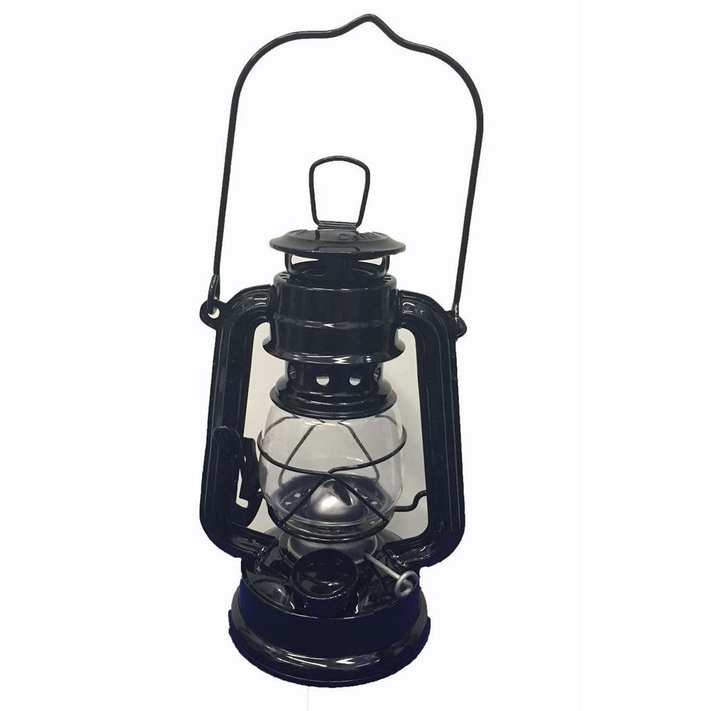 OMNI Black Hanging Hurricane Lantern Light Lamp - 8 Inches