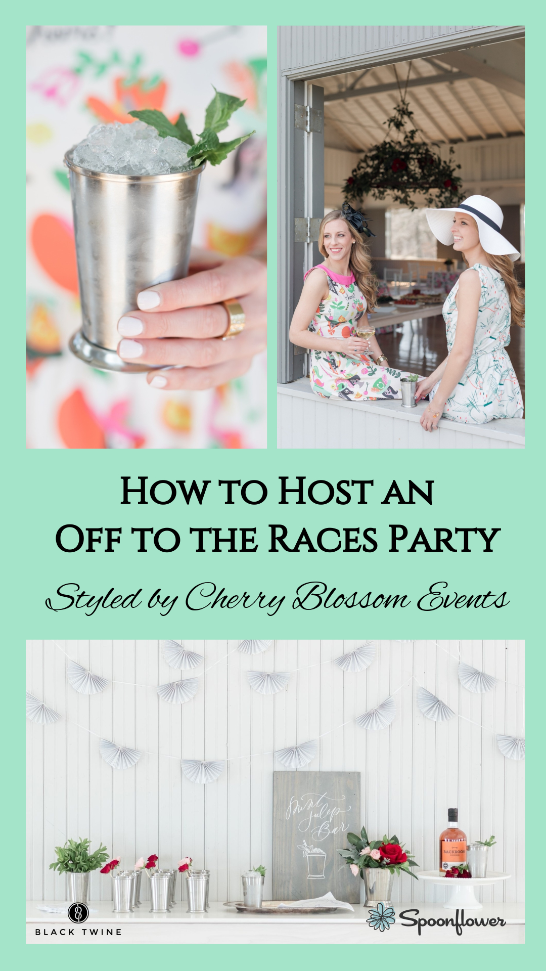 How to Host an Off to the Races Derby Party Styled by Cherry Blossom Events | Black Twine