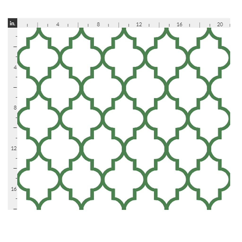Kelly Quatrefoil Fabric by Willow Lane Textiles