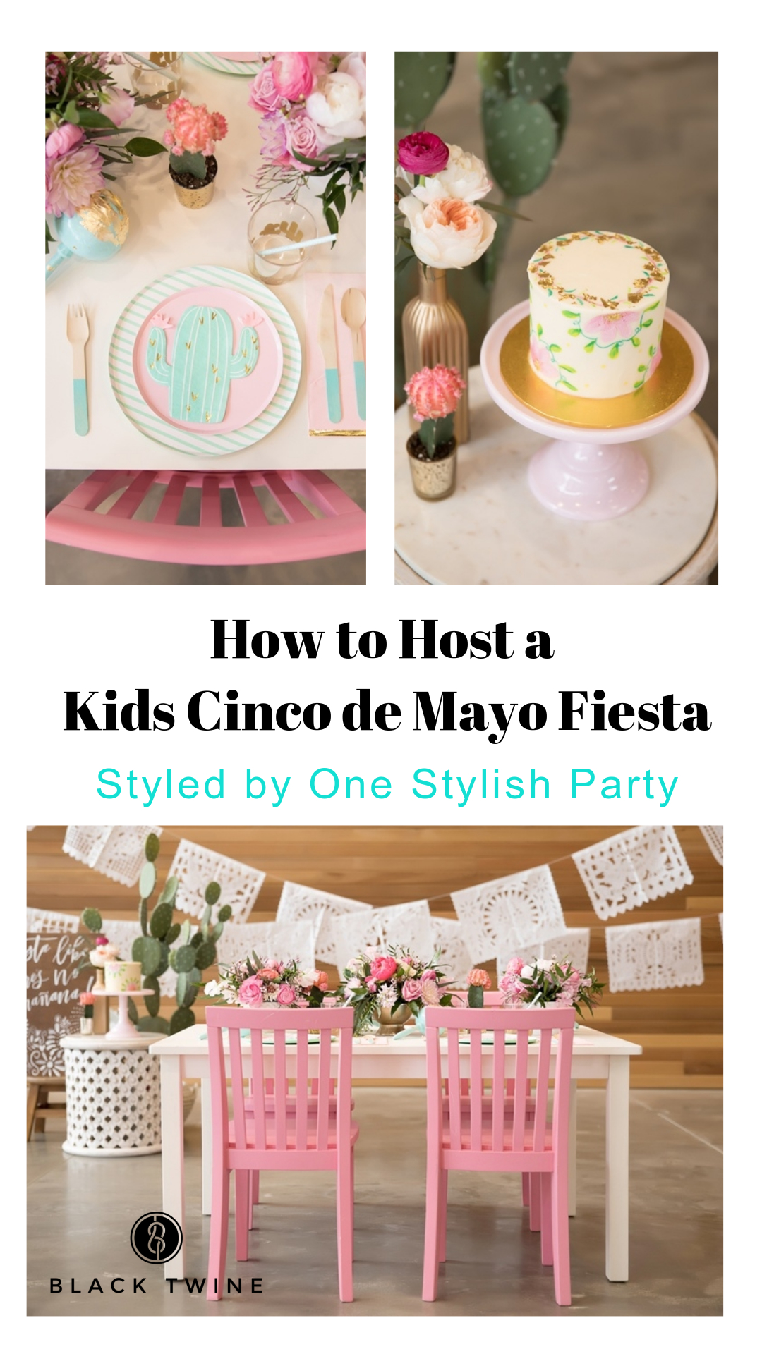 How to Host a Kids Cinco de Mayo Party Fiesta by One Stylish Party | Black Twine
