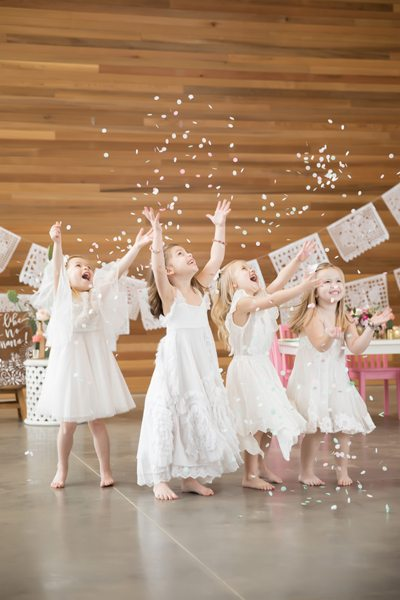 Kids Throwing Confetti from Kids Cinco de Mayo Fiesta Styled by One Stylish Party | Black Twine