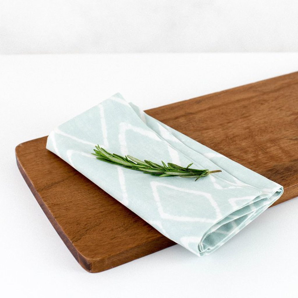 Mint Batik Napkins by Wolf & Irving