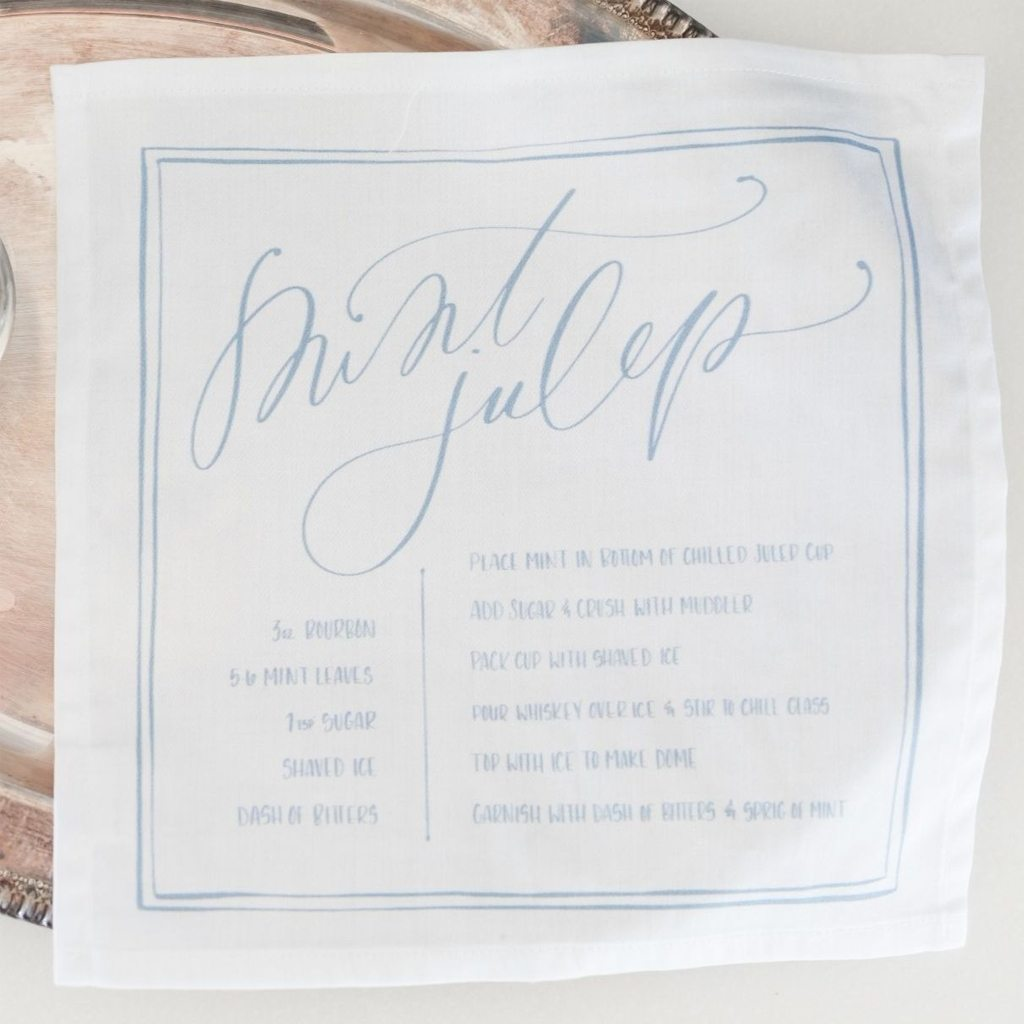 Mint Julep Napkins by Roostery