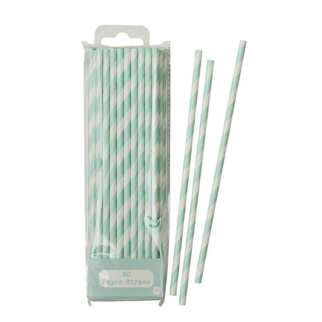 Talking Tables Disposable Paper Straws, Mint