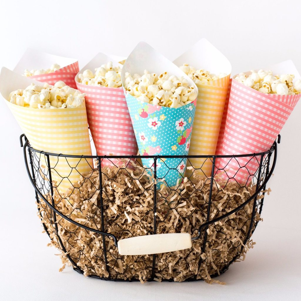 Shabby Chic Popcorn Funnels - The Green Grass Grows