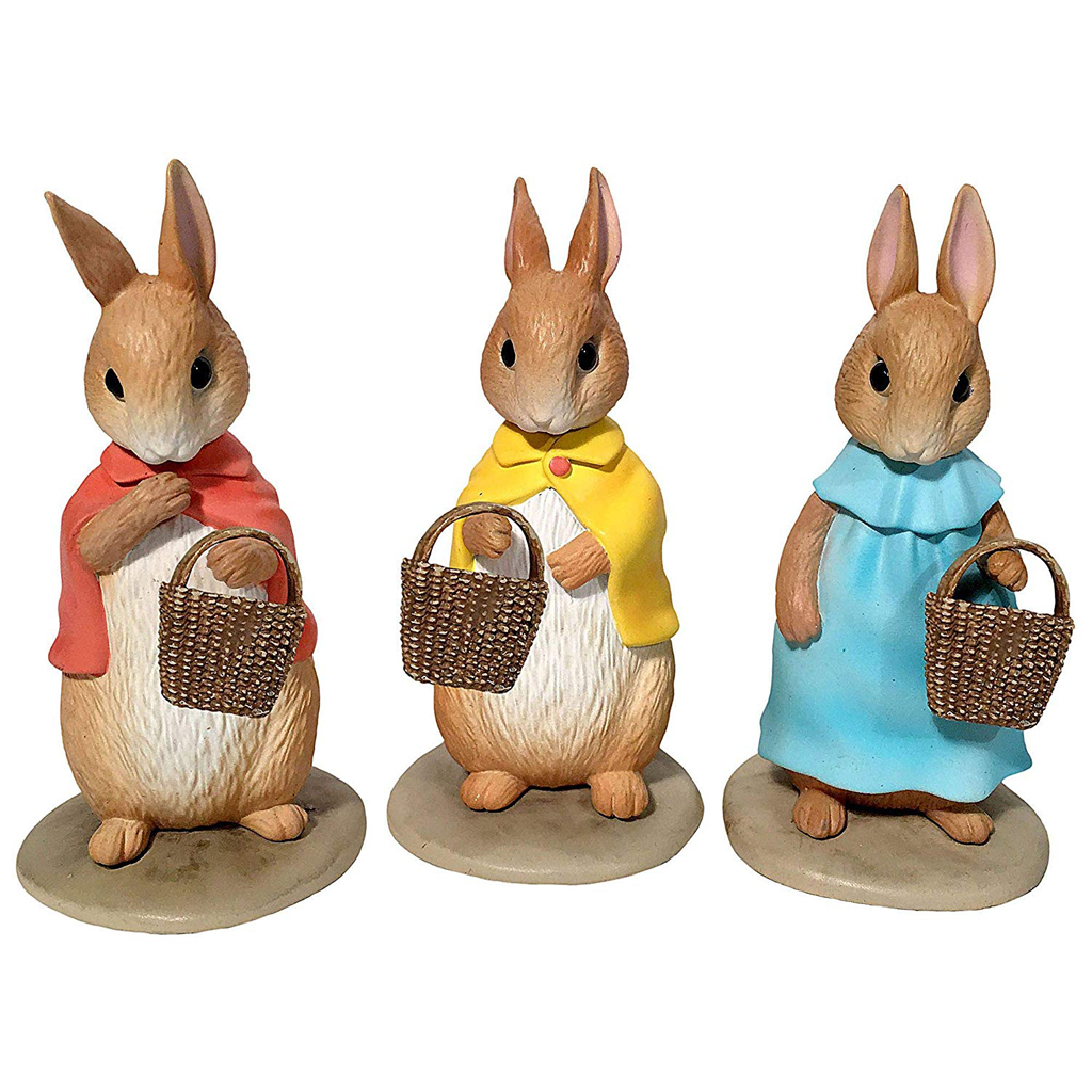 Paper Pulp Peter Rabbit Sisters Figures Set Of 3