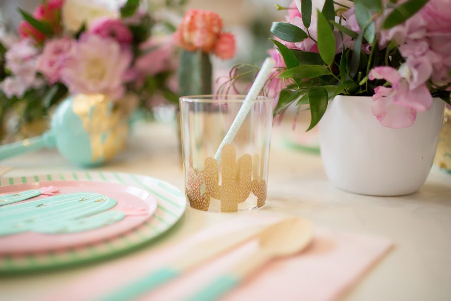 Place Setting and Cup from Kids Cinco de Mayo Fiesta Styled by One Stylish Party | Black Twine