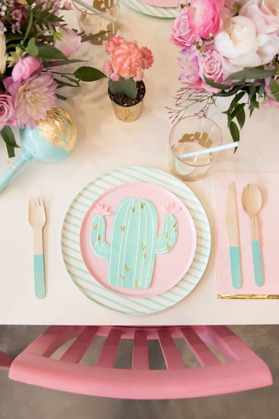 Place Setting from Kids Cinco de Mayo Fiesta Styled by One Stylish Party | Black Twine