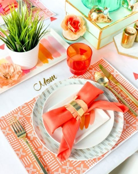 Place Setting from Bubbly Mother's Day Brunch Styled by Kailo Chic | Black Twine