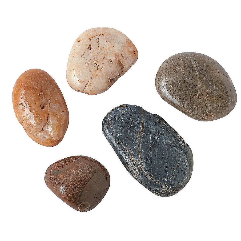 Polished River Rocks from Panoramic Decorative Accents