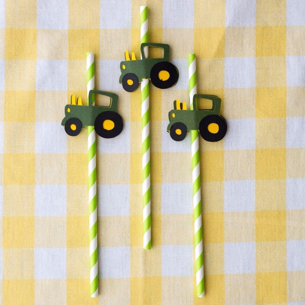 Tractor Straws - Scrappin2gether