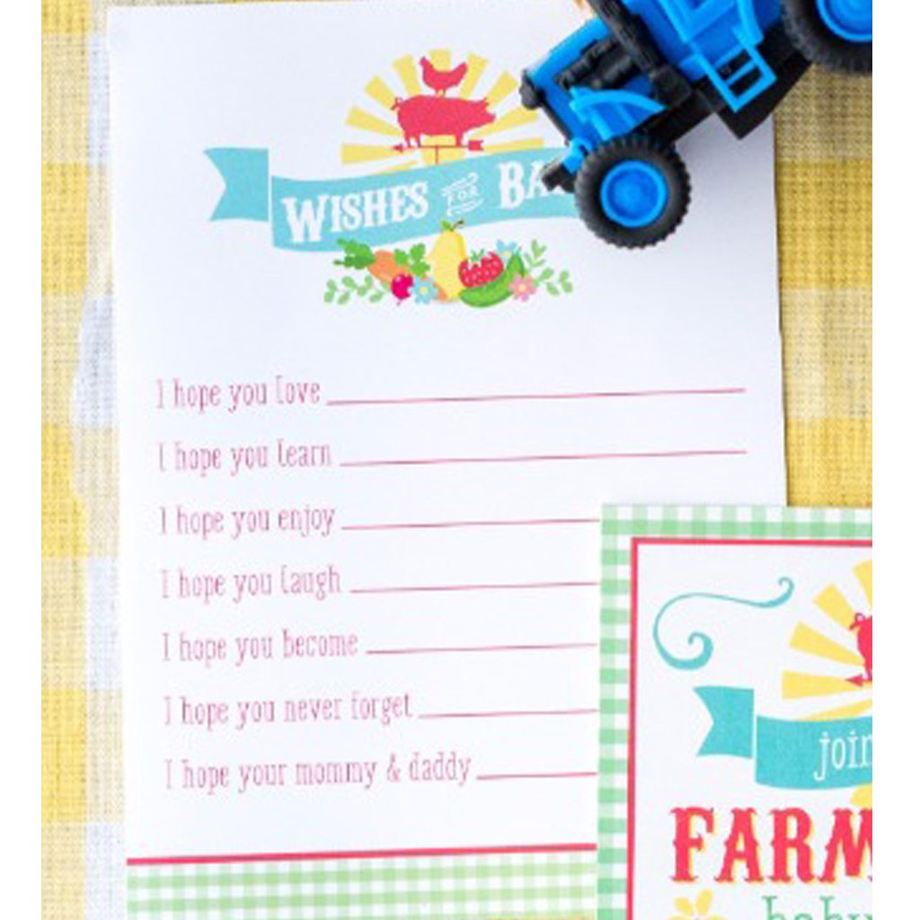Wishes for Baby Activity Game Card (DIY Printable) by Jen T by Design