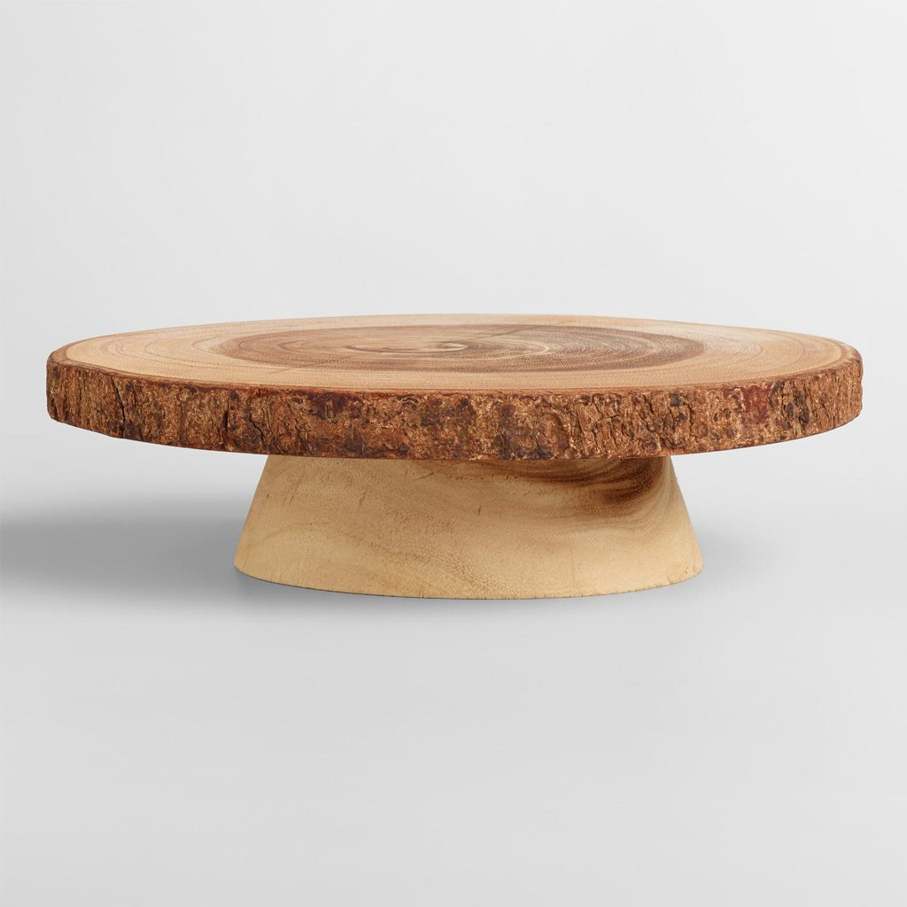 Wood Bark Cake Stand - Cost Plus World Market