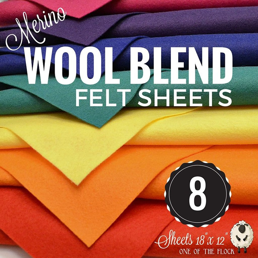 Merino Wool Felt Sheets from Felt up by amelia