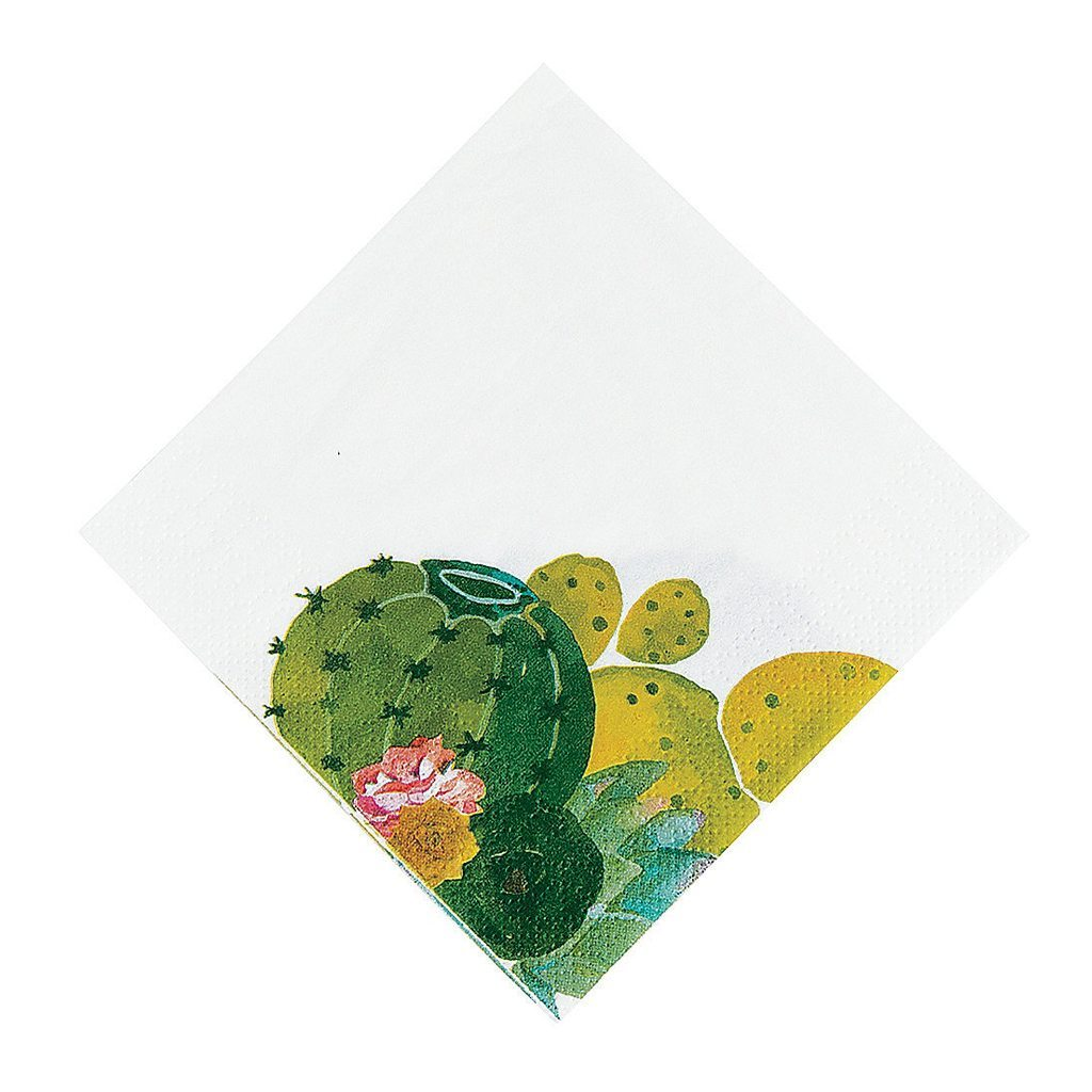 Cactus Party Beverage Napkins from Oriental Trading