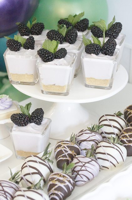 Desserts from Modern Terrarium Making Party styled by A Lovely Design   Black Twine
