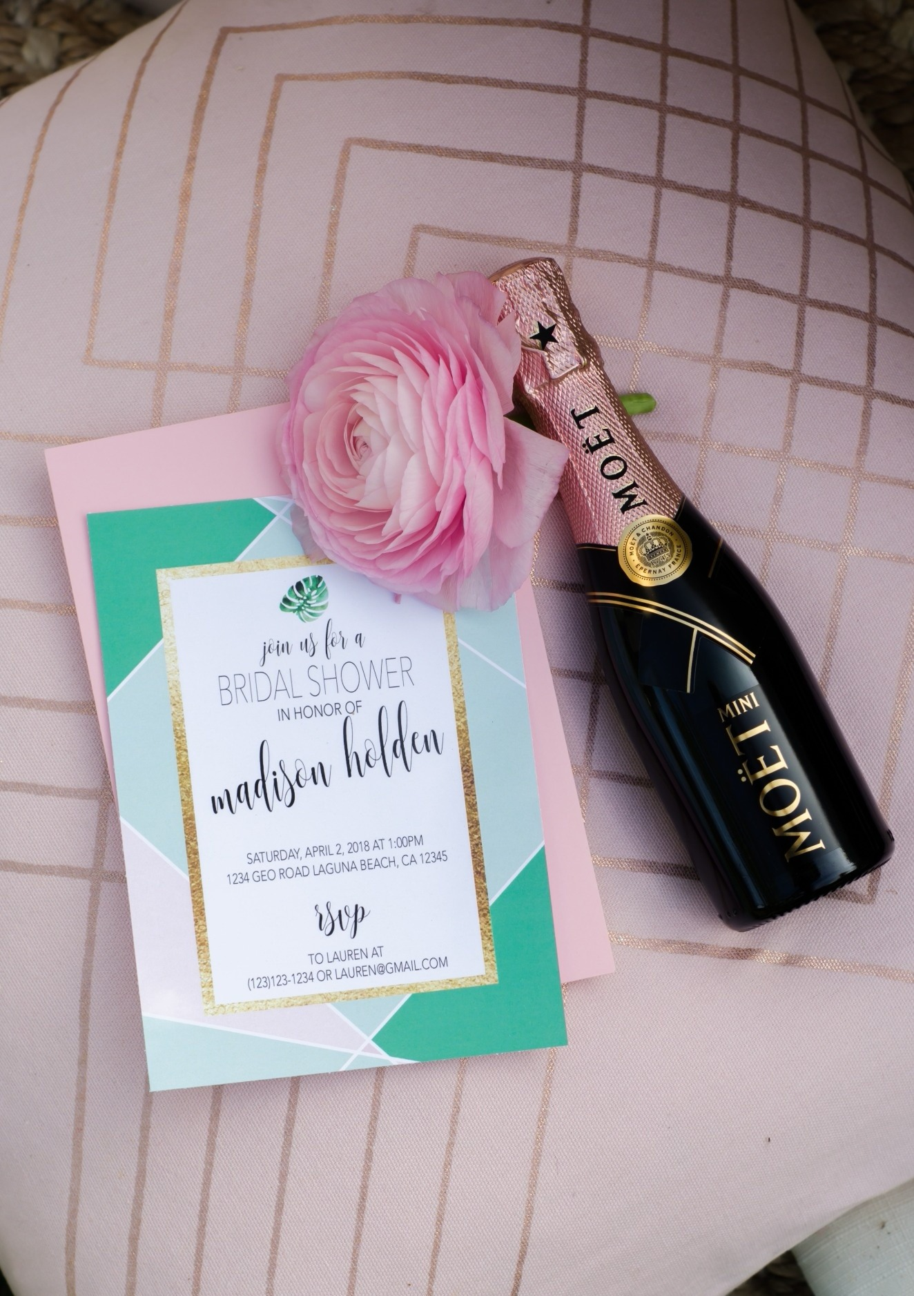 Invitations from Tropicale Bridal Shower Featuring Daydream Society | Styled by Mint Event Design | Black Twine