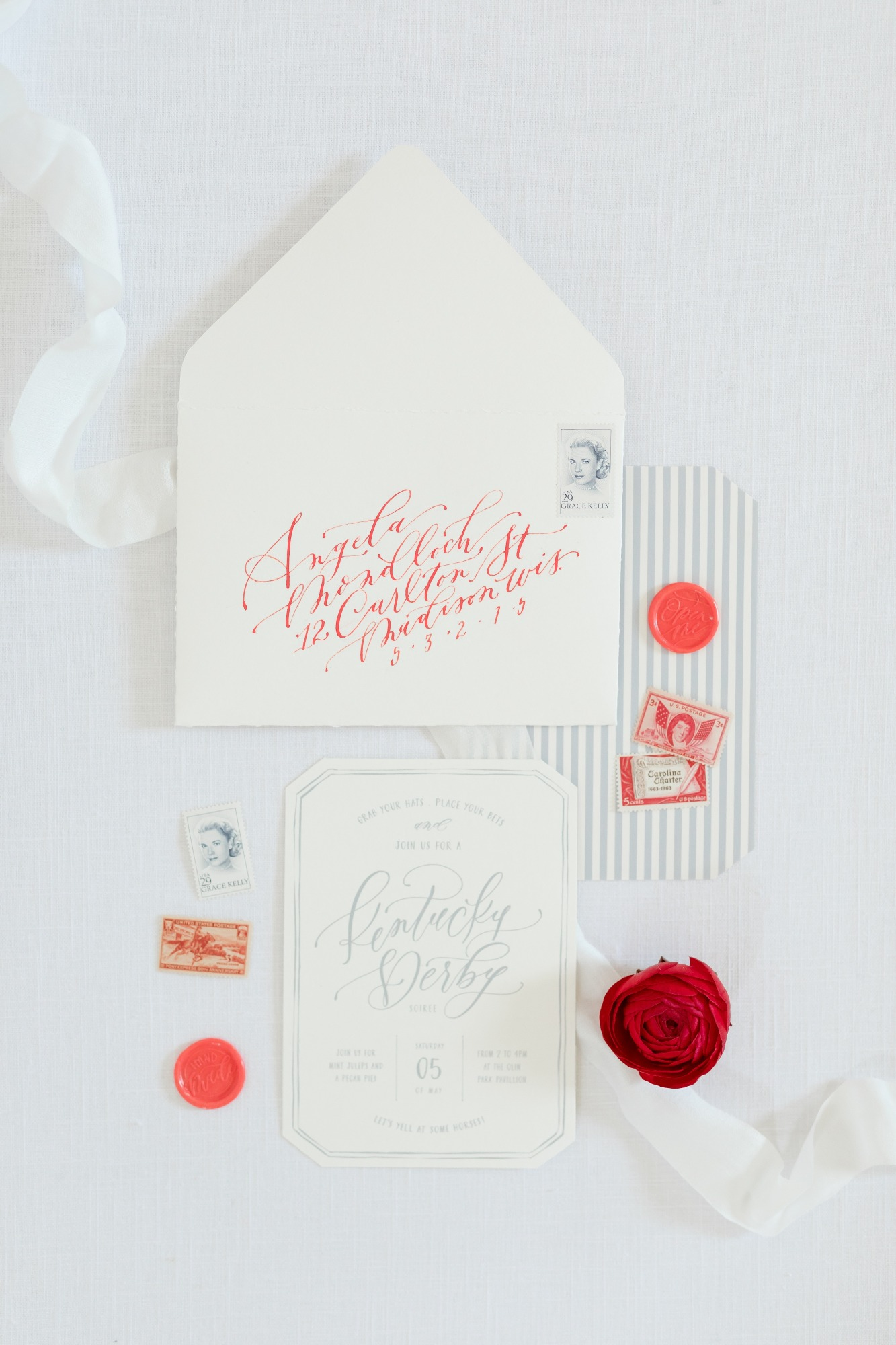 Invitation from Off to the Races Derby Party Styled by Cherry Blossom Events | Black Twine