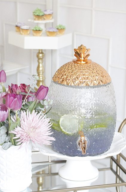 Beverage Drinks from Modern Terrarium Making Party styled by A Lovely Design   Black Twine