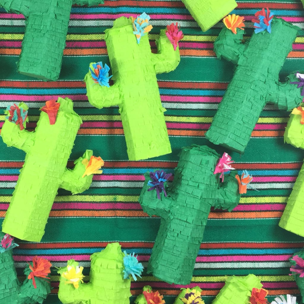 Cactus Decorations, Mini Cactus Pinata, Cactus Pinata, Cactus Party, Cinco de Mayo, Mexican Fiesta by Lulaflora Designs