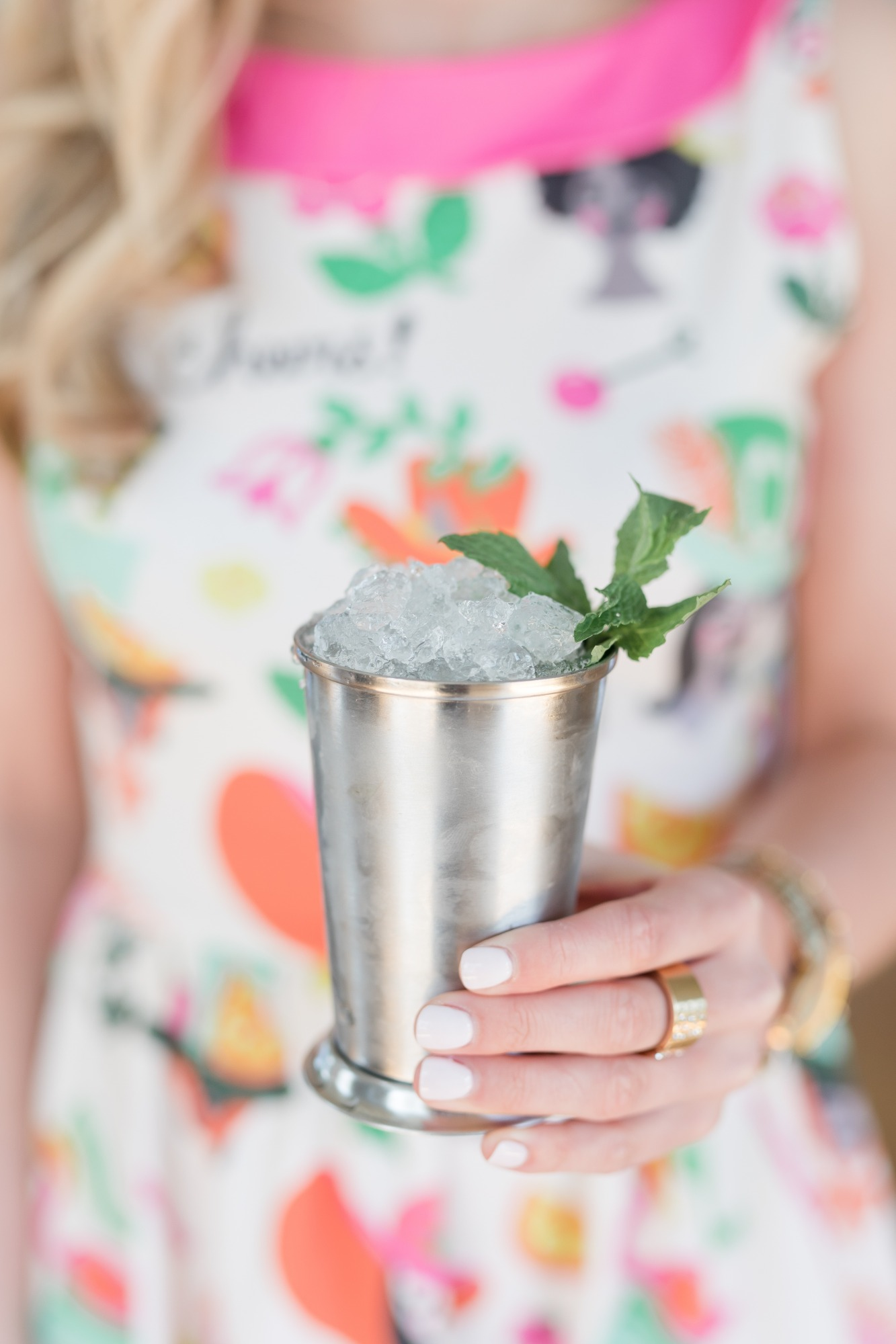 Mint Julep and Dress from Off to the Races Derby Party Styled by Cherry Blossom Events | Black Twine