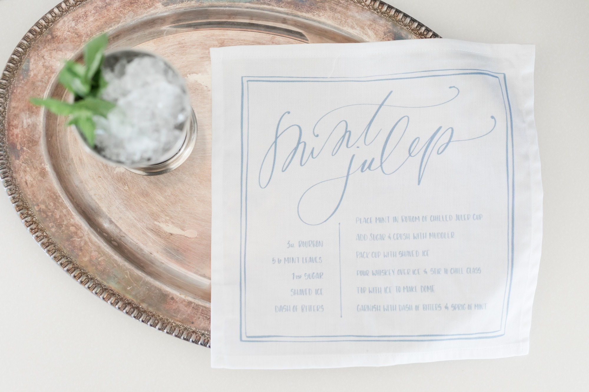 Mint Julep Handkerchief from Off to the Races Derby Party Styled by Cherry Blossom Events | Black Twine