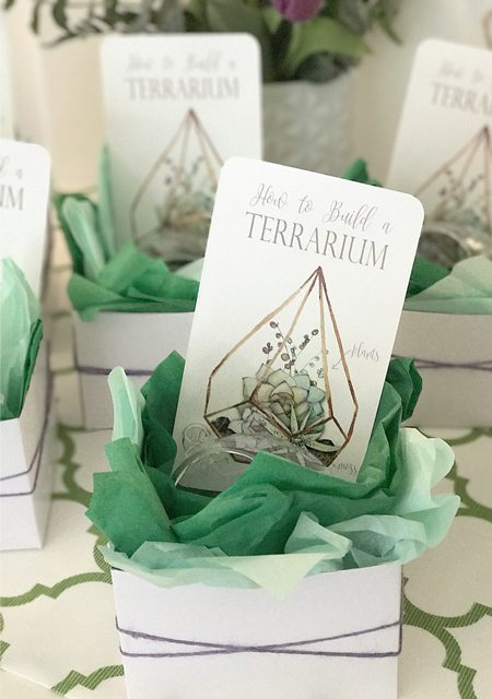 Terrarium Cards Signs from Modern Terrarium Making Party styled by A Lovely Design   Black Twine
