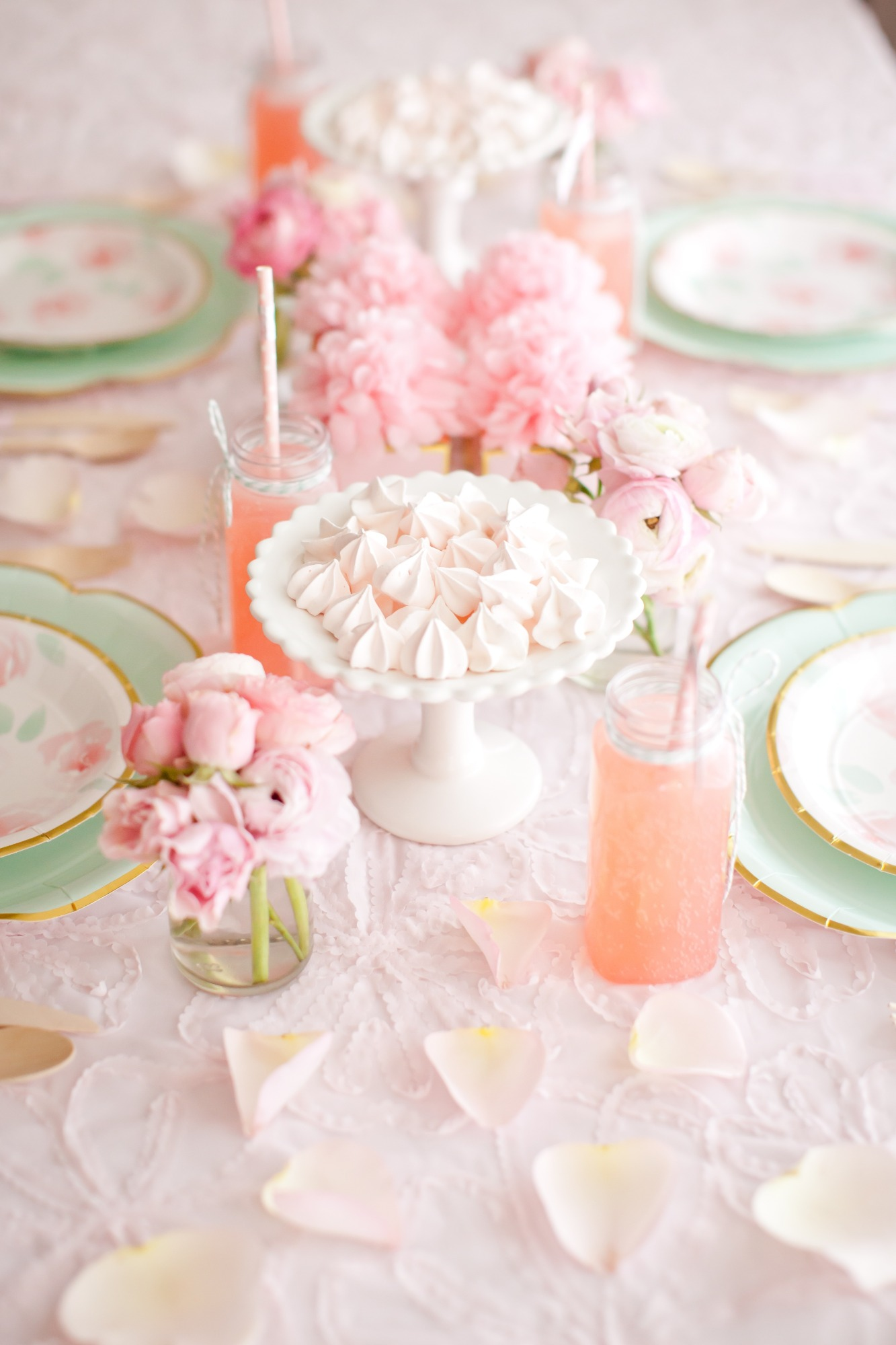 Tablescape from Mother's Day Brunch Styled by Kiss Me Kate Studio | Black Twine