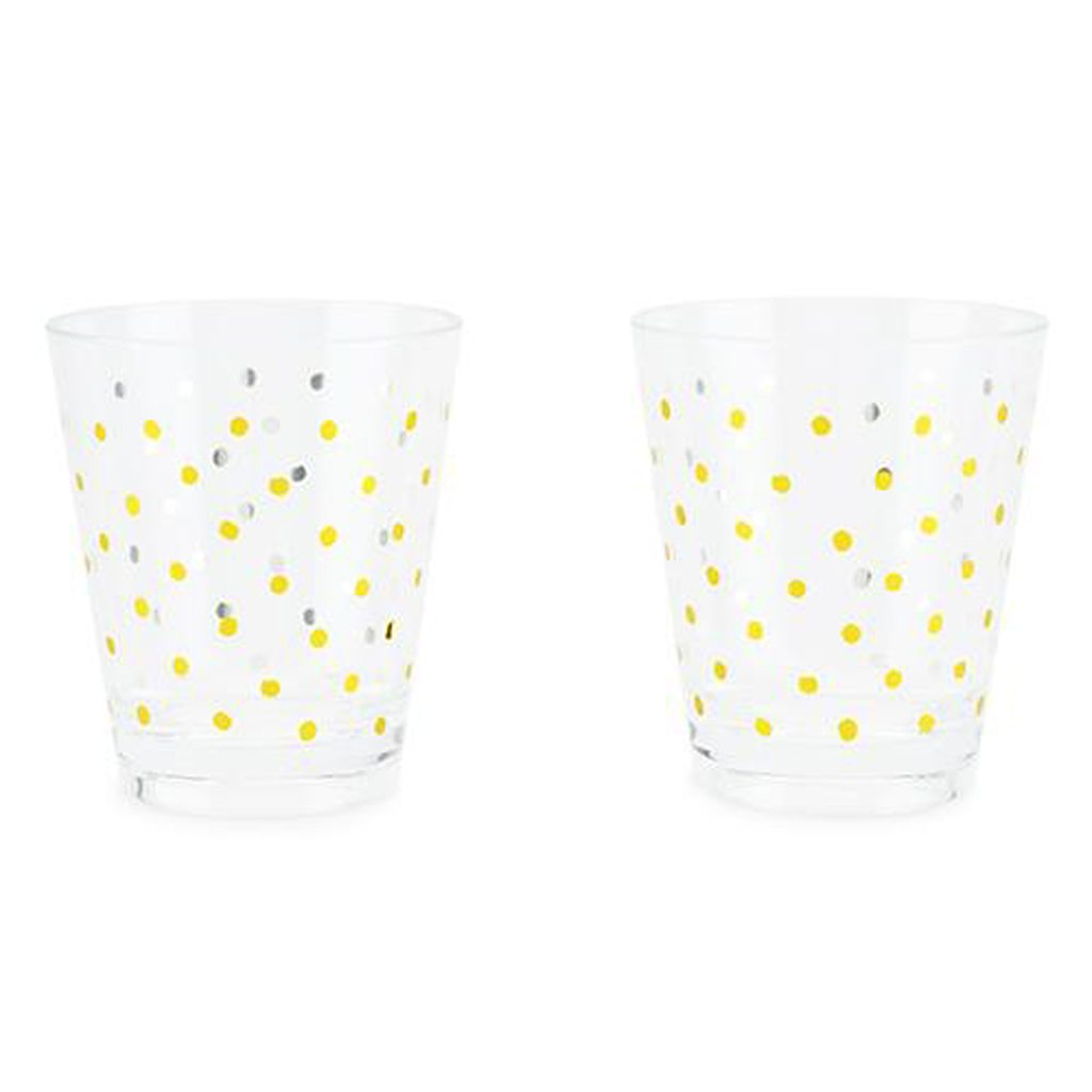 Gold Dots Acrylic Cups by Kailo Chic