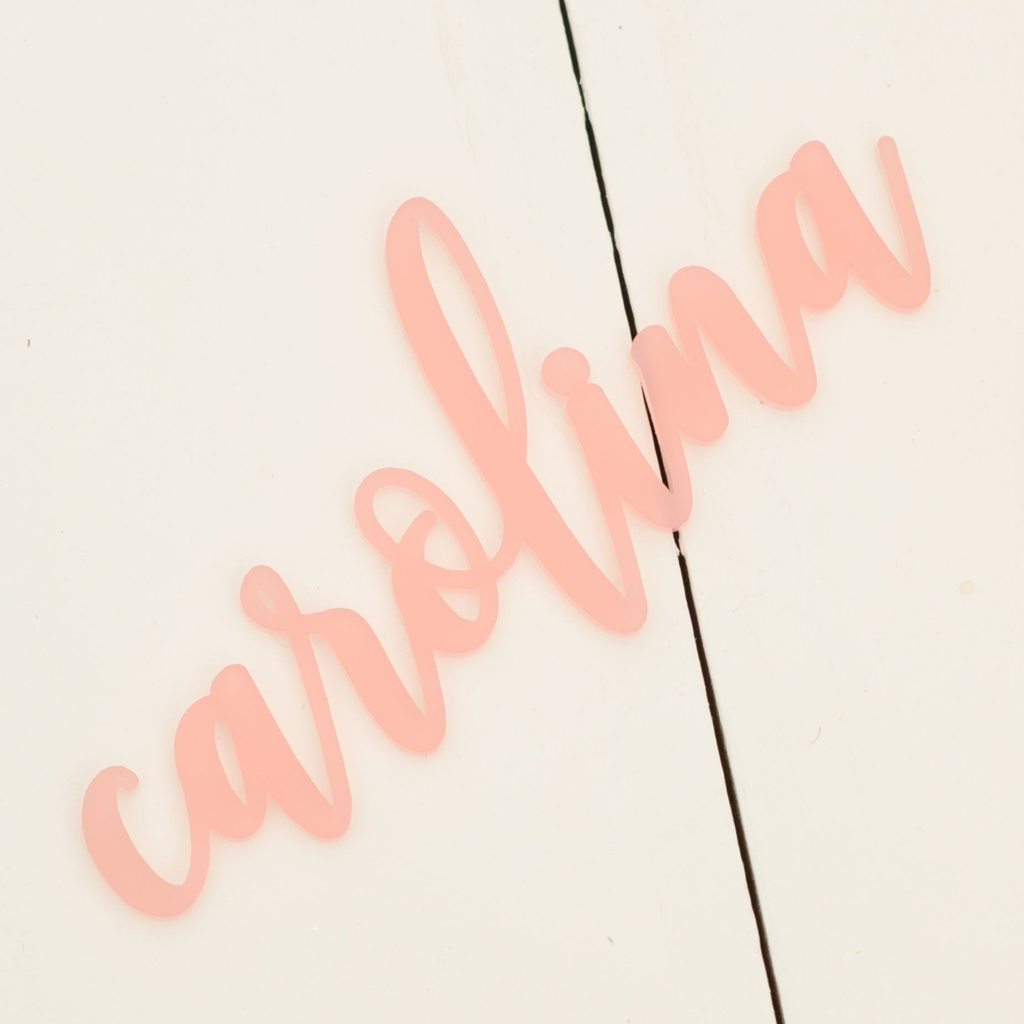 Acrylic Name / Place Card by California Lustre